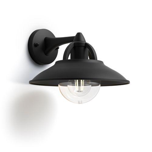 Philips wandverlichting Cormorant zwart E27