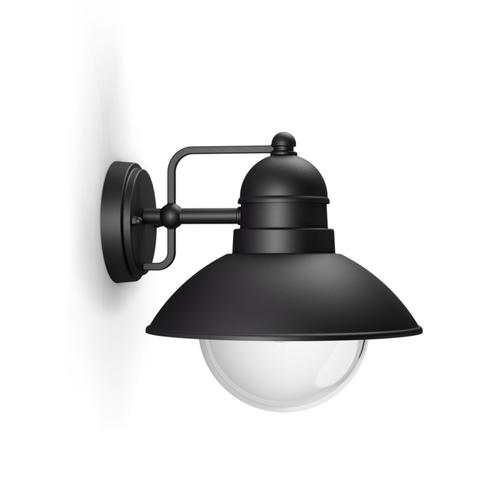 Philips wandverlichting Hoverfly zwart E27