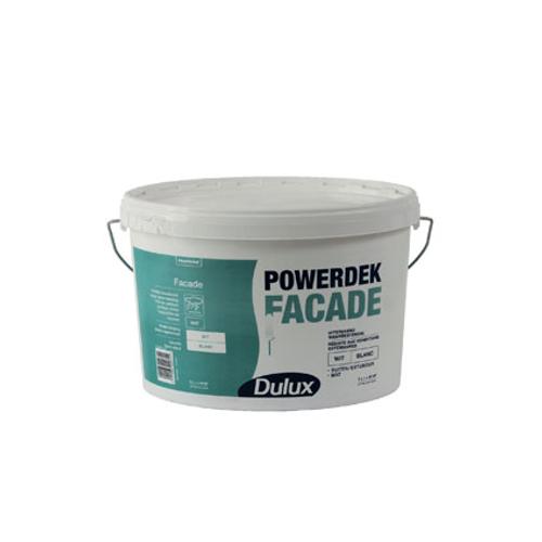 Peinture façade Dulux 'Powerdek' blanc mat 5L