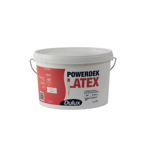 Dulux latex verf 'Powerdek' wit mat 5L