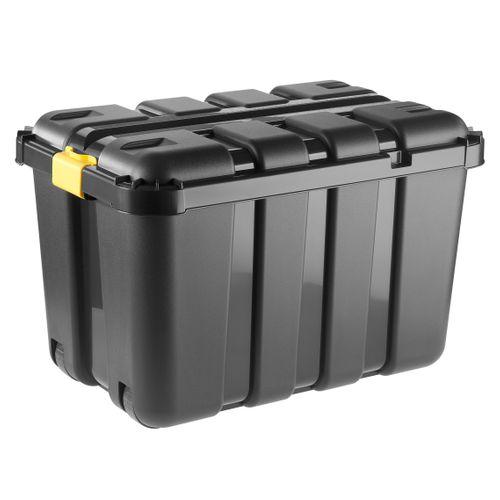 Opbergkoffer 'One' zwart 135L