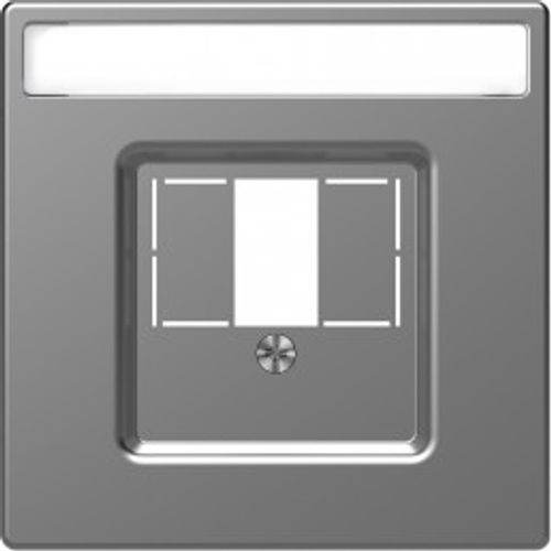 Schneider afdekplaat D-Life USB RVS