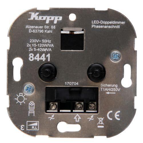 Kopp TechnikCenter sokkel duodimmer LED RL 5-40W