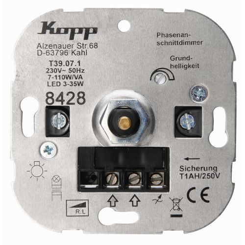 Kopp TechnikCenter sokkel dimmer LED RL 3 - 35W