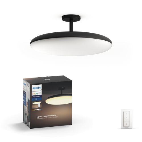 Philips Hue plafondlamp Cher zwart met voet 39W