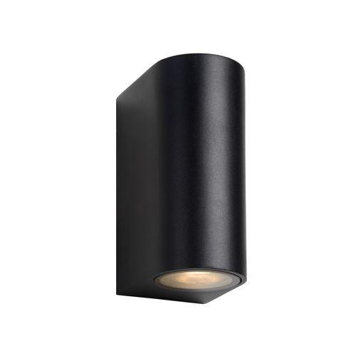 Lucide wandverlichting Zora-led zwart GU10 2x5W