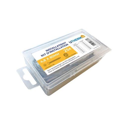 Vis et rondelles Coeck Utherm4u 4,8x160mm 25 pcs/blister