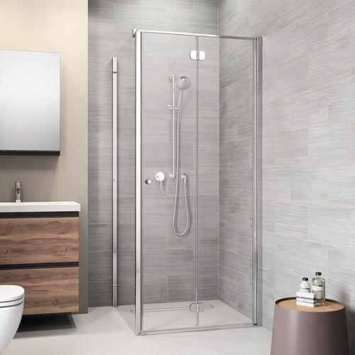 Sealskin | get wet Code Zijwand (rechts) voor combinatie met deuren m.u.v. pendeldeuren, 90cm,zilverhoogglans, 6mm helder veiligheidsglas met anti-kalk