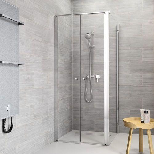 Sealskin | get wet Code Zijwand (rechts) voor combinatie metmet pendeldeuren, 90cm,zilverhoogglans, 6 mm helder veiligheidsglas met anti-kalk