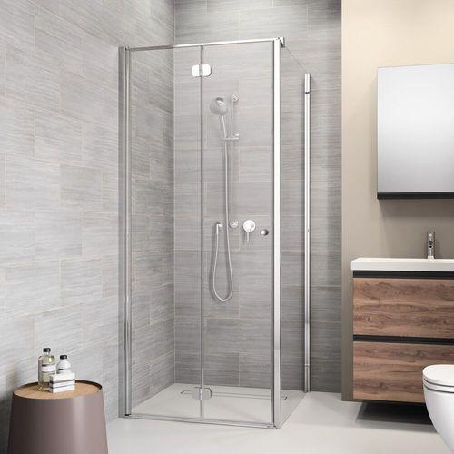 Sealskin | get wet Code vouw-pendeldeur (links) voor combinatie met een zijwand, 90cm,zilverhoogglans, 6mm helder veiligheidsglas met anti-kalk