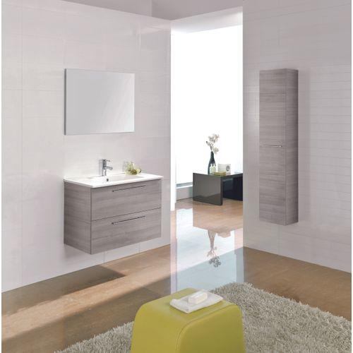 Meuble de salle de bain Royo Level chêne gris 60cm
