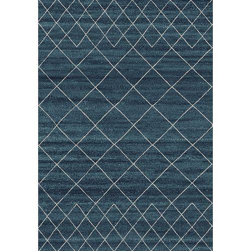Vloerkleed Elise donkerblauw 160x230cm