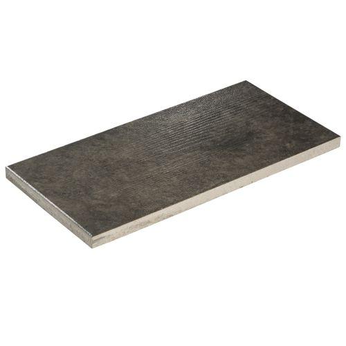 Decor terrastegel Houtlook grijs zwart beton 80x40x4cm