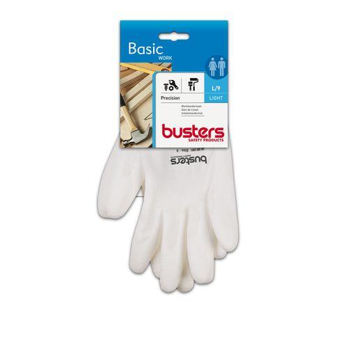 Busters handschoenen High Tech nylon wit M9