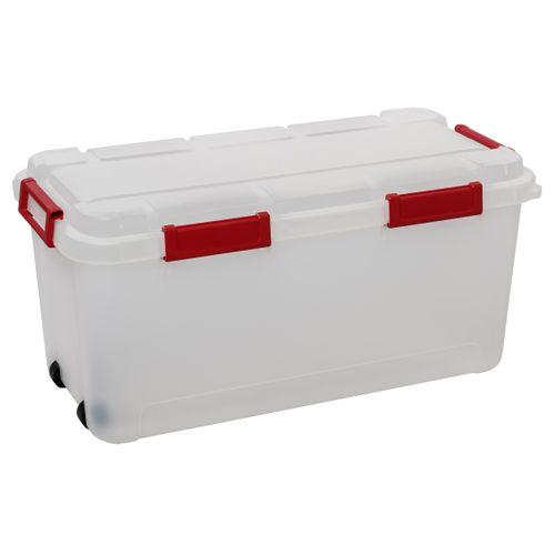 Boîte de rangement Keter Outback transparent rouge 80L