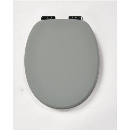 Abattant WC Aquazuro Soft Touch gris souris MDF