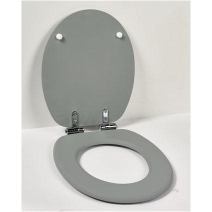 Aquazuro toiletzitting MDF grijs
