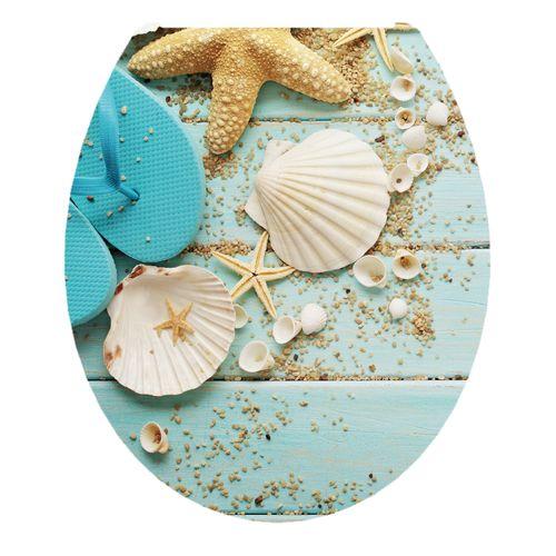Aquazuro toiletzitting Strand duroplast blauw