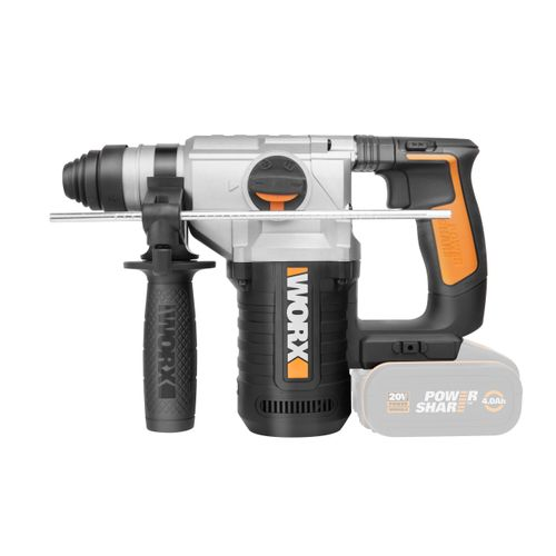 Marteau perforateur Worx WX392.9 20V Bare Tool + 3 forets SDS