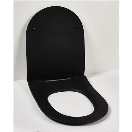 Aquazuro toiletzitting duroplast zwart mat