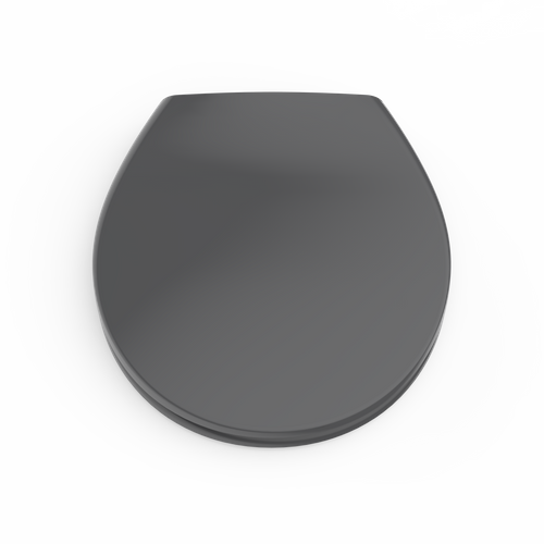 Aquazuro toiletzitting duroplast antraciet