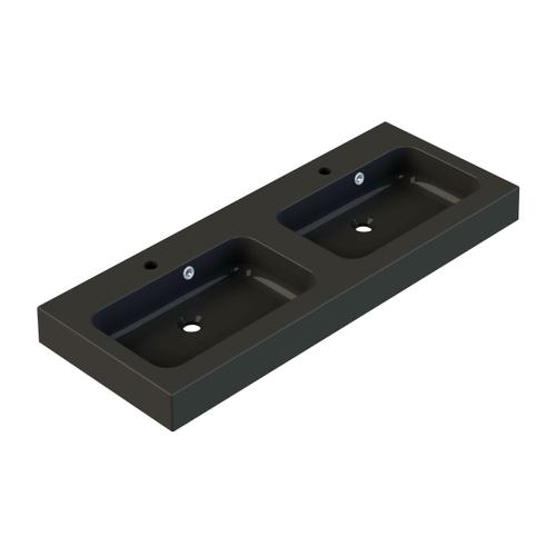 Allibert wastafel Roke 120cm zwart mat