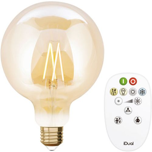 iDual led lamp Whites filament g125 E27 806lm