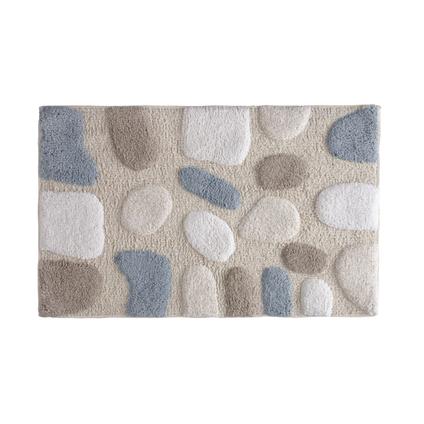 Tapis de bain Future Home Galet beige coton 50x80cm