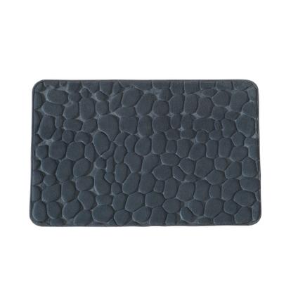 Tapis de bain Future Home Mineral gris polyester 50x80cm