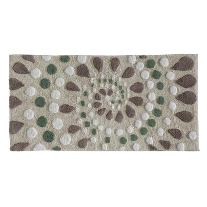 Tapis de bain Future Home Spiro multicolore coton 60x120cm