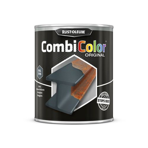 Rust-oleum Combicolor antiroest primer en finish antracietgrijs 750ml