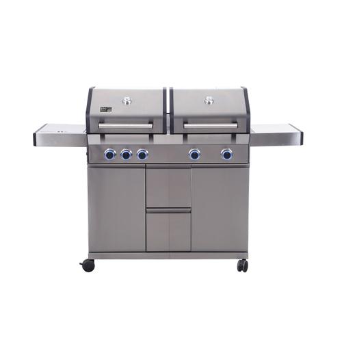 BBQ&Friends gasbarbecue Lancaster 17kW zilver