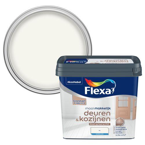 Flexa lak Mooi Makkelijk Deuren & Kozijzen zijdeglans wit 750ml