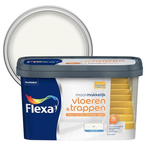 Flexa lak Mooi Makkelijk Vloeren & Trappen zijdeglans wit 2,5L