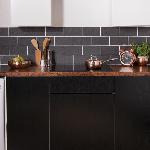 Transform zelfklevende decoratiefolie Charred wood 67,5x200cm