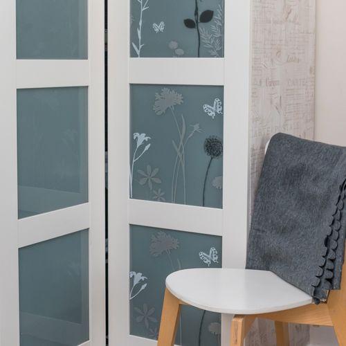 Transform premium statische glasfolie Flower 45x150cm