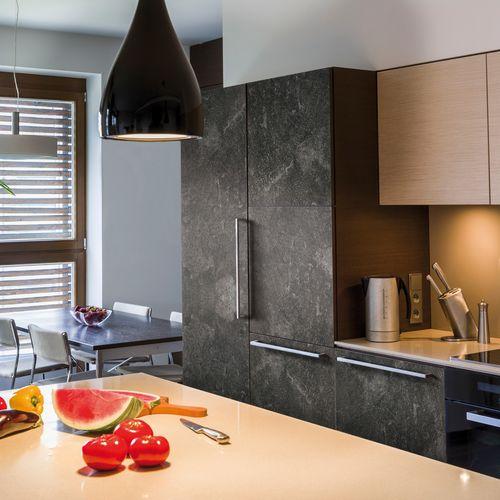 Transform zelfklevende decoratiefolie Concrete zwart 45x200cm