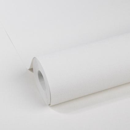 DecoMode vliesbehang Basic textile gebroken wit