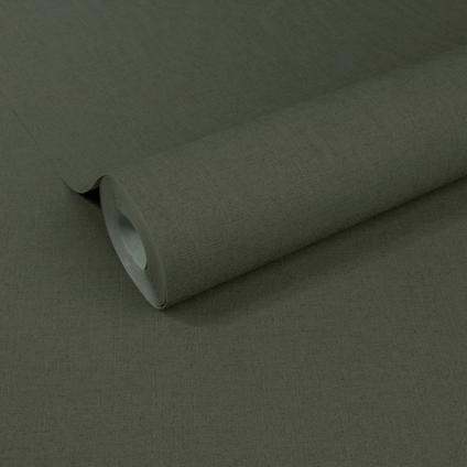Papier peint intissé Decomode 'Basic Textile' vert bronze