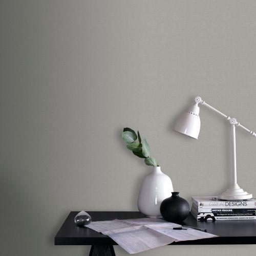 Papier peint intissé Decomode Basic textile gris clair