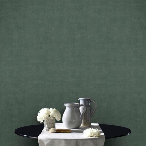 DecoMode vliesbehang Concrete mat groen