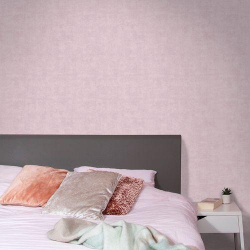 Papier peint intissé Decomode beton mat rose
