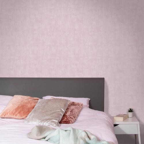 Decomode vliesbehang Concrete mat roze