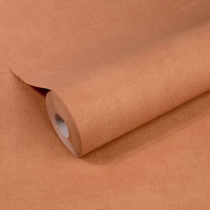 Papier peint intissé DecoMode Concrete mat terre cuite