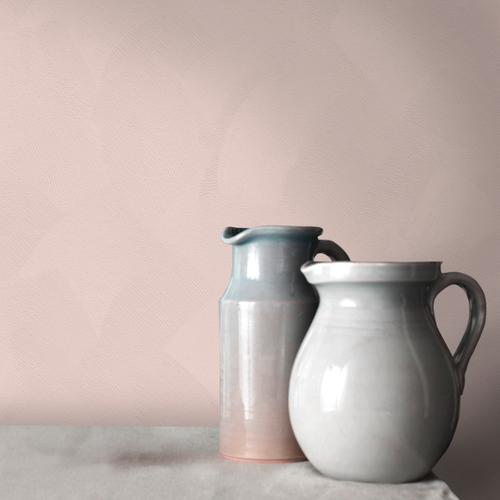 Decomode vliesbehang Basic stuc nude roze