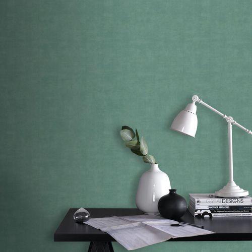 Papier peint intissé DecoMode Concrete mat turquoise