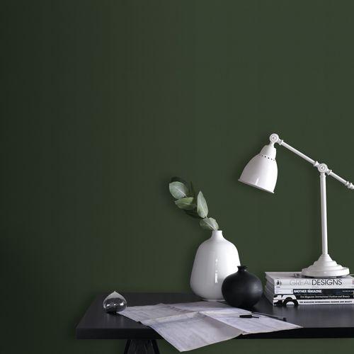 Papier peint intissé Decomode Uni elegant leaves vert foncé