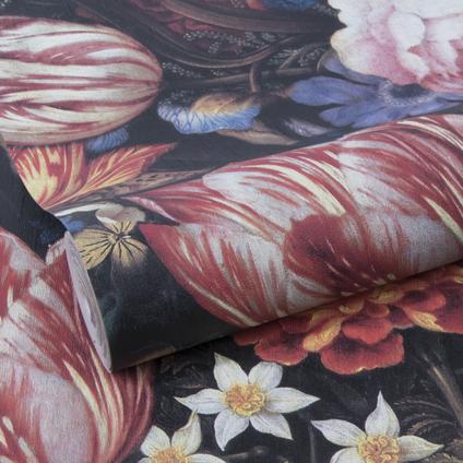Decomode vliesbehang Oude meesters bloemen meerkleurig