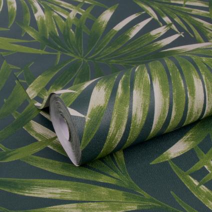 DecoMode vliesbehang Elegant leaves groen