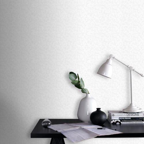 Sencys overschilderbaar vliesbehang Rectangle wit